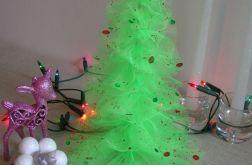 Zielona choinka - ozdoba świąteczna