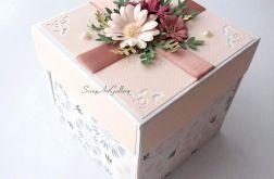 Kartka - Pudełko z tortem dla Młodej Pary