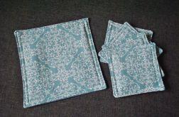 4 podkładki pod kubki miętowe mozaiki