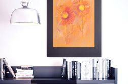Rysunek z kwiatami na czarnym tle nr 5
