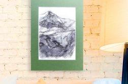 Szkic górski nr 20 -  czarno-biały obrazek