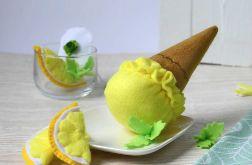 Lody z filcu cytrynowe / Jedzenie z filcu