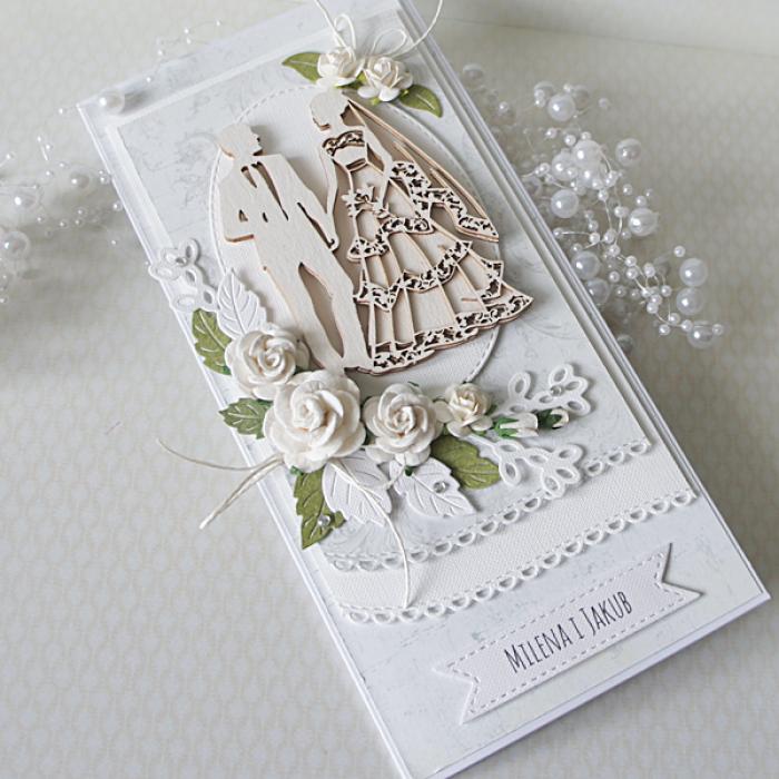 Romantyczna kartka ślubna DL.11