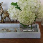 Taca z kamienia Bianco Carrara 30 x 12 cm