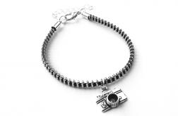 Designerska bransoletka z zawieszką aparat