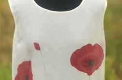 Bluzka jedwabna - maki