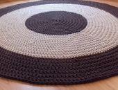 Bawełniany okrągły dywan 135cm
