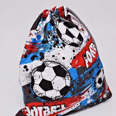 Worek na buty na kapcie do szkoły piłka nożna