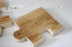 Drewniane podkładki puzzle