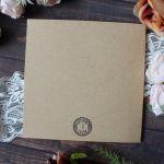 Pastelowe domki - Tył kartki