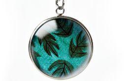 Green leaves naszyjnik z ilustracją