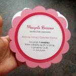 Zaproszenie na urodzinki dla dziewczynki Minnie okrągłe ZUD 008 - Zaproszenie na urodzinki dla dziewczynki Minnie okrągłe (2)