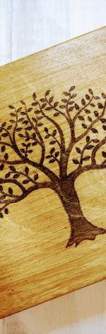 Drewniana skrzynka na drobiazgi