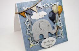 Kartka ze słonikiem