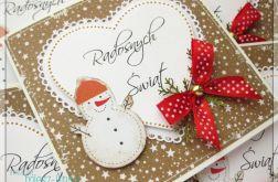 Piernikowa kartka świąteczna z bałwanem 5