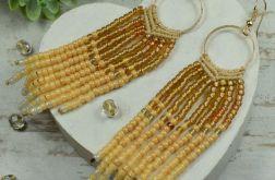 Długie kolczyki z koralików w stylu boho