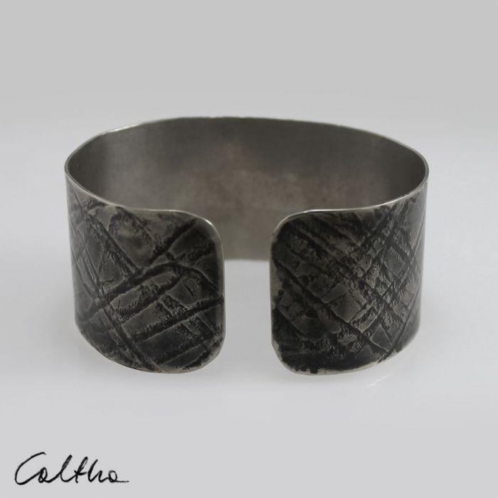 Fale - metalowa bransoleta 151001-06 - Miedziana bransoleta