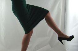 spódnica tuba - butelkowa zieleń