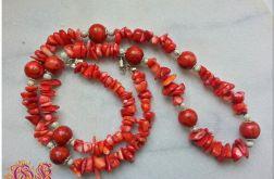 Naszyjnik z czerwonego korala