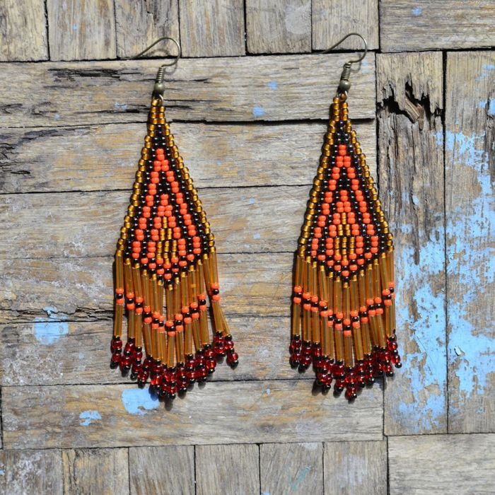 Indianskie kolczyki Fenix BOHO ETNO -