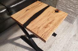 Stolik kawowy z akacji, stolik żywica - rzeka
