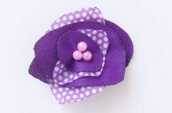 fioletowa broszka kwiatuszek nr 1