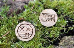 Drewniane spinki do mankietów GAME OVER
