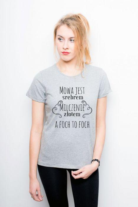 """Koszulka damska """"Mowa Jest Srebrem, Milczenie .."""