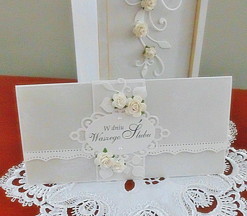 Komplet na ślub - wino i róże