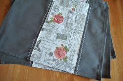 4 podkładki pod talerze - romantyczne róże