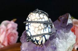 Srebrny pierścionek z agatem fire
