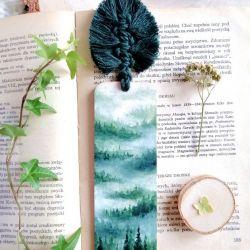 Zakładka do książki las świerkowy