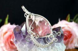 Srebrny wisior z rodochrozytem róż