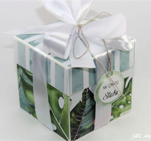 Ślubny exploding box-zieleń