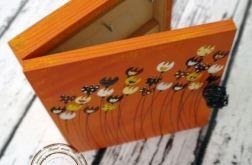 pomarańczowe pudełko na klucze tulipany