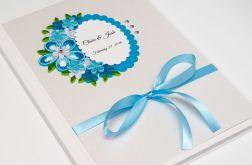Niebieska Księga Gości - Quilling