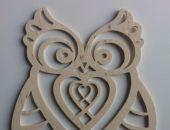 Dekor Dekoracja z drewna Sowa