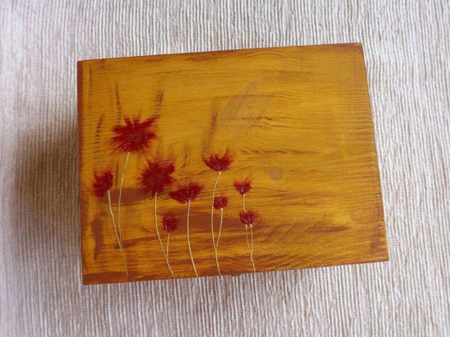 Herbaciarka malowana 6 przegródek - Astry - herbaciarka astry