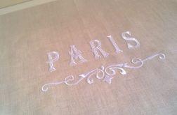 Lambrekin lniany z haftem Paris