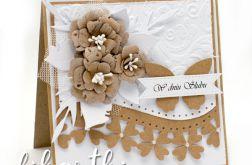 kartka ślubna w stylu rustykalnym KSK2016