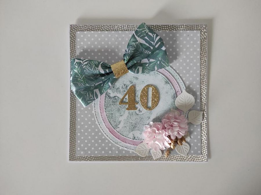 Kartka na urodziny 40 czterdziestka -