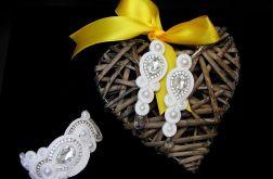 Srebrny komplet ślubny, biżuteria ślubna swarovski