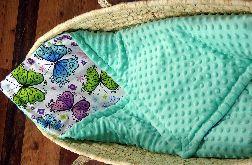 Rożek niemowlęcy minky i motyle