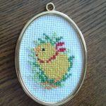 Haftowany obrazek z kurczaczkiem - Obrazek z kurczaczkiem