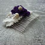 Grzebyk do włosów z koralików