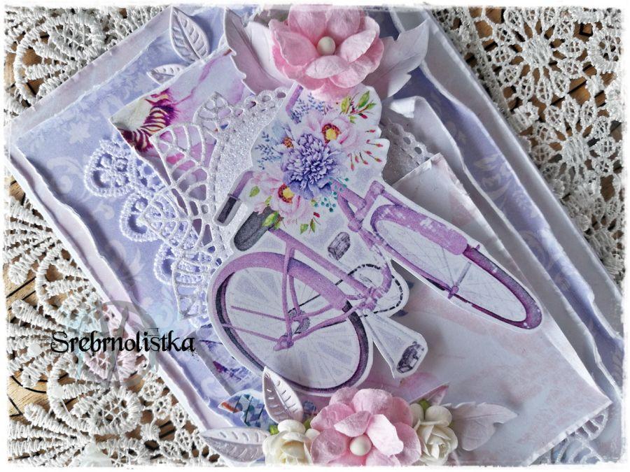 Kartka urodziny imieniny vol. 62 z rowerem