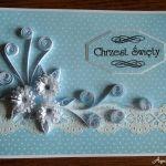 Quilling kartka na Chrzest Św. dla chłopca