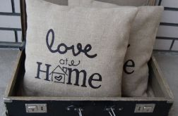 "Poszewki ""Love at home"" - haftowane"