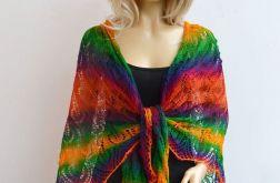 Kolorowa ażurowa chusta