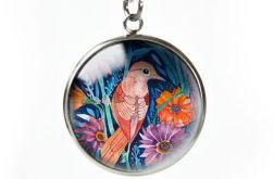 AUTUMN BIRD naszyjnik z ilustracją